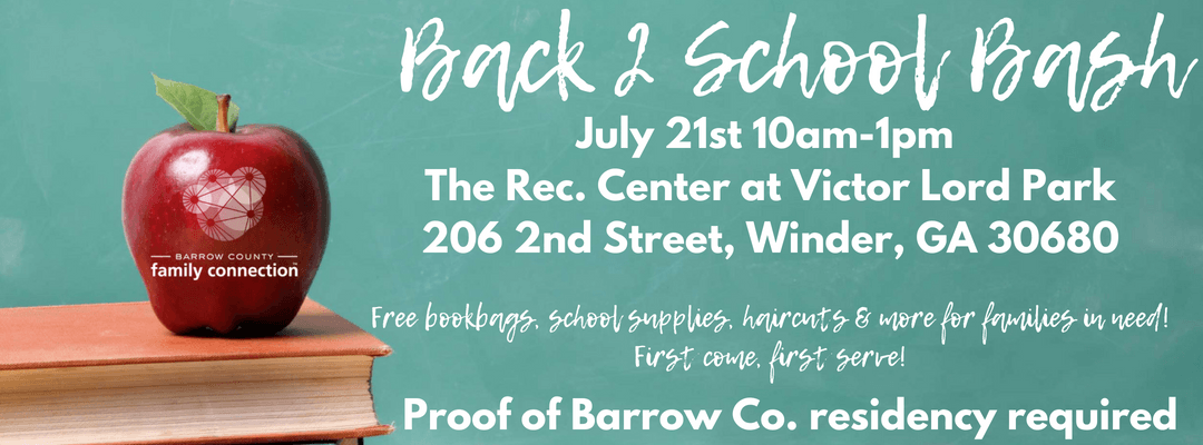 Back 2 School Bash Banner
