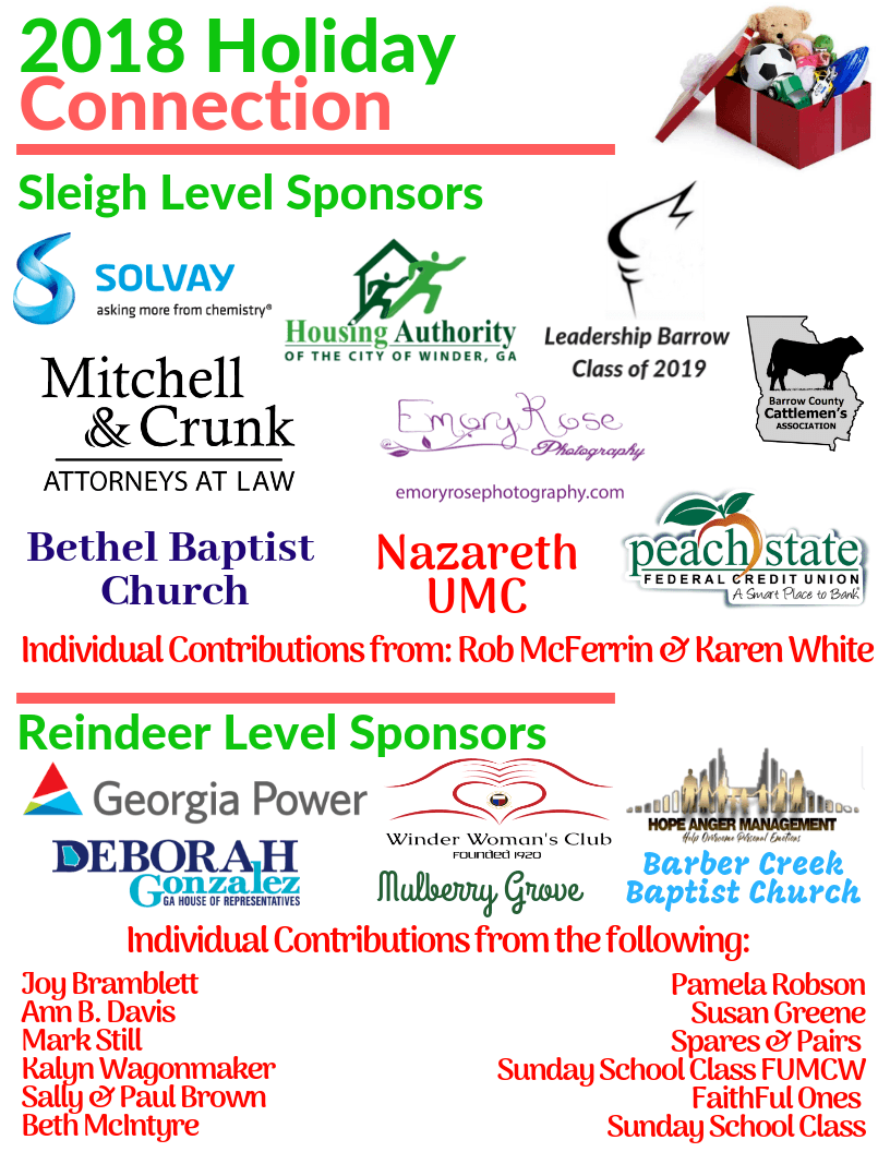 Sponsors – Barrow County Family Connection
